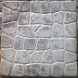 Литая плитка Морской камень 500х500х60 мм серая