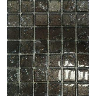 Скляна мозаїка Керамік Полісся Gretta Brown колотое скло 300х300 мм