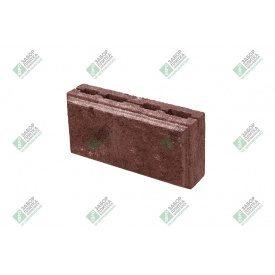 Блок облицювальний колотий з фаскою 390х190х188 мм червоний