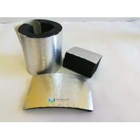 Каучукова ізоляція з покриттям Алюхолст 25 мм для зовнішнього застосування