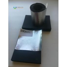 Каучуковая изоляция самоклейка с покрытием Алюхолст 19мм для наружного применения