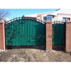Ковані ворота з профнастилом (Z-0113)