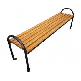 Лавка садово-паркова без спинки з металевими ніжками СКП-2