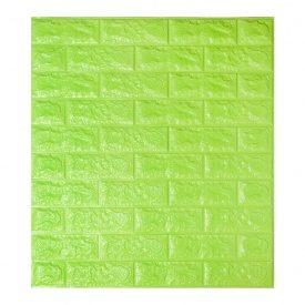 Самоклеющаяся декоративная 3D панель под зеленый кирпич 700x770x7 мм