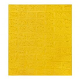 Самоклеющаяся декоративная 3D панель под желтый кирпич 700x770x7 мм Os-BG10