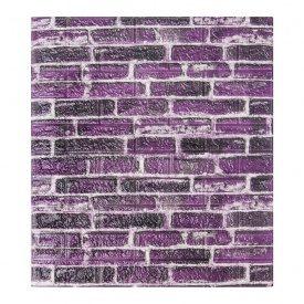 Самоклеющаяся декоративная 3D панель под фиолетовый екатеринославский кирпич 700x770x7 мм Os-CZ-01-5