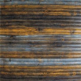 Самоклеющаяся декоративная 3D панель бамбук серо-коричневый 700x700x8 мм