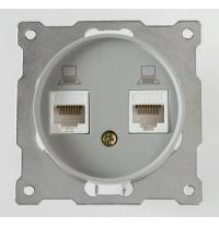 Розетка OneKeyElectro двойная компьютерная RJ45 кат5e