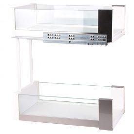 Карго 450мм белый/стекло, Essence VIBO (EGTGM45B2EVC)
