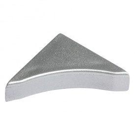 Бортик узкий Thermoplast заглушка серебро блеск 820