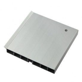 Цоколь 100mm матовое серебро 820 L-3м Thermoplast