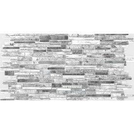 Камень ПВХ Регул Пластушка черно-белая 0,4х489х980 мм