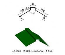 Коньок трапеція КТ-31 1950/2000 мм зелений