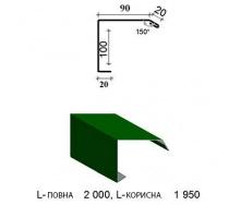 Копія - Планка вітрова ПВ-125х115 1950/2000 мм зелена