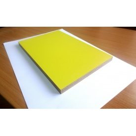 Фанера ламинированная глянцевая ОДЕК для мебели гладкая/гладкая 15х1250х2500 мм желтая
