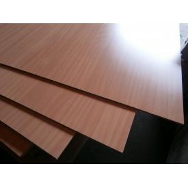 Фанера ОДЕК водостойкая глянцевая для мебели гладкая/гладкая 18х1250х2500 мм бук