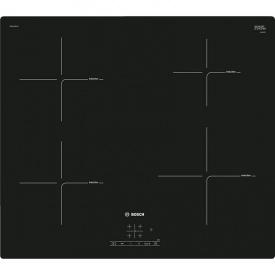 Индукционная варочная поверхность черная PUE611BF1E Bosch
