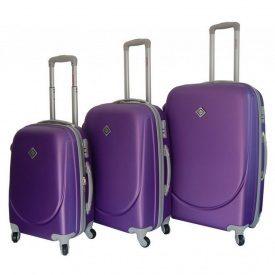 Чемодан Bonro Smile набор 3 штуки фиолетовый