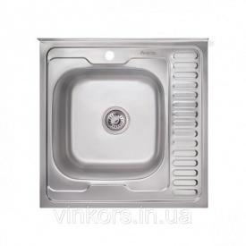 Кухонная мойка Imperial 6060-L 0,8 180мм decor из нержавеющей стали на тумбу (7829)