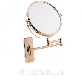 Зеркало косметическое Q-Tap QT Liberty ORO 1147 увеличение х3, золото (25645)