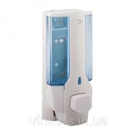 Дозатор для рідкого мила Potato P403 пластик, синьо-білий 380мл (13274)