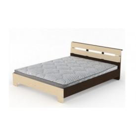 Двуспальная кровать Стиль-160 Компанит 2133х1644х766 мм ДСП венге комби