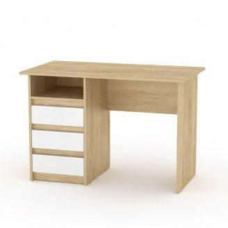 Письменный стол Компанит Декан 736х1100х600 мм ЛДСП дуб-сонома комби