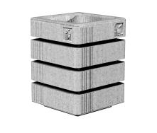 Урна Золотой Мандарин Модерн софт 560 вайт полірований