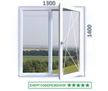 Вікно з 7-камерного профілю WDS Ultra7 1300x1400 мм з двокамерним енергозберігаючим склопакетом 40 мм