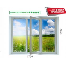 Окно из 7-камерного профиля WDS Ultra7 1700x1400 мм с двухкамерным энергосберегающим стекопакетом 40 мм c аргоном