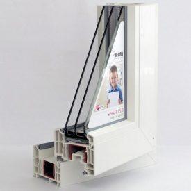 Оконный профиль REHAU INTELIO шестикамерная 86 мм
