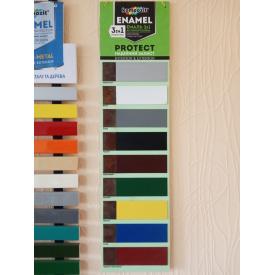 Эмаль антикоррозионная 3в1 Композит PROTECT серый 0,75 кг