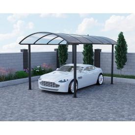 Автомобильный навес Oscar Regata 3830х5160х2757мм Двойной слой молотковой краски, Сотовый поликарбонат Lexan 8 мм
