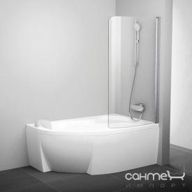 Шторка для ванны Ravak CVSK1 140/150 R полир. алюминий/прозрачное 7QRM0C00Y1 правая