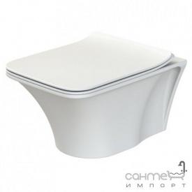 Унитаз подвесной безободковый CeraStyle Ibiza ОР0003126 с сиденьем Slim Soft-Close белый матовый