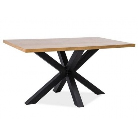 Стол обеденный Signal Cross 180 дерево Дуб/Черный Дуб