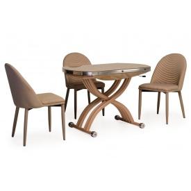 Стол с регулируемой высотой Vetro Mebel TMT-33 Кремовый