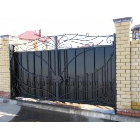 Кованые ворота закрытые Код В-0138 ДЕШЕВАЯ КОВКА