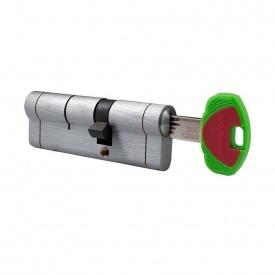 Цилиндр замка Securemme 90 (45x45) матовый хром ключ-ключ