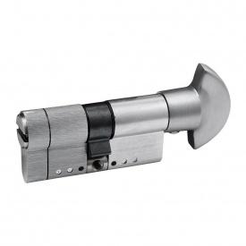 Цилиндр замка Securemme 70 (30x40т) матовый хром ключ-тумблер