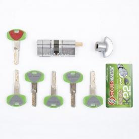 Цилиндр замка Securemme 65 (35x30т) матовый хром ключ-тумблер