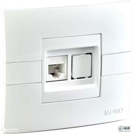 Розетка одномісна MONO Elecric ECO біла CAT6