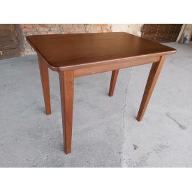 Стол кухонный массив бука тонированный Орех 900х600х750