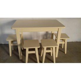 Стол кухонный массив бука белый 1000х650