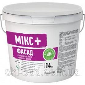 Атмосферостойкая латексная краска Siltek Микс+ Фасад 14 кг