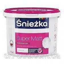 Інтер'єрна акрилова фарба глибоко матова Sniezka Super Matt 14 кг