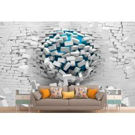 Фотообои 3Д шар сломанная стена