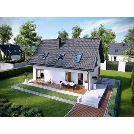 Строительство дома по проекту Маренго Базовый 6,7х10,5 м
