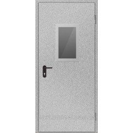 Протипожежні двері зі склом Міськбудметал ДМП 21-9 EI60 C 2100х900 мм