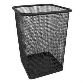 Корзина для бумаг Trento метал сетка черная